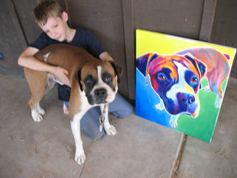 Leo And Portrait by dawgart