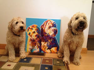 Max and Maggie and their painting