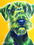 Apple Green Airedale Terrier