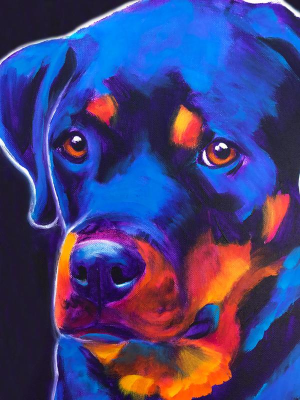 Dexter Thoughtful by dawgart