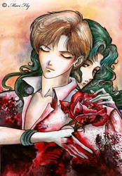 Haruka and SailorNeptune by Mariflay