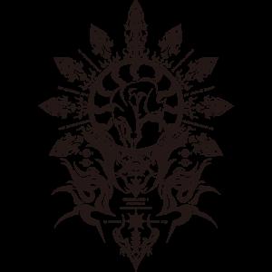 hakumen crest from blazblue by matrixly