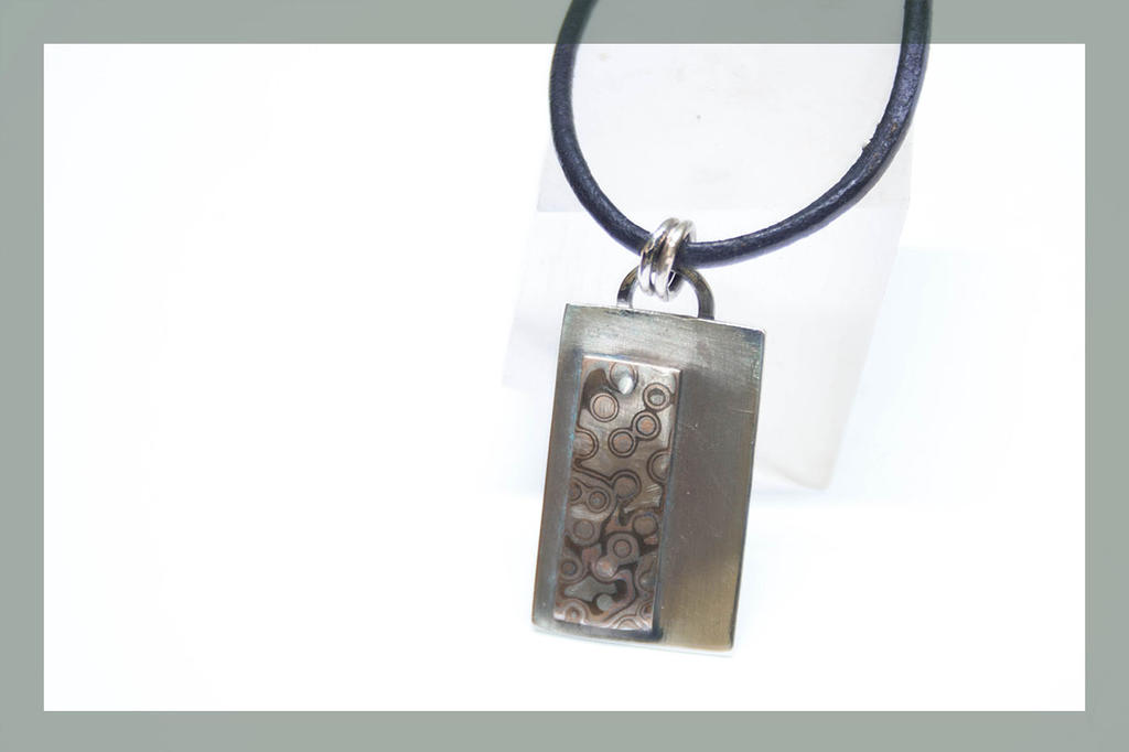 Mokume Gane pendant by BichoBolita