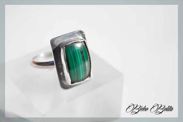 Malachite ring by BichoBolita