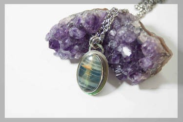 Blue onix pendant by BichoBolita