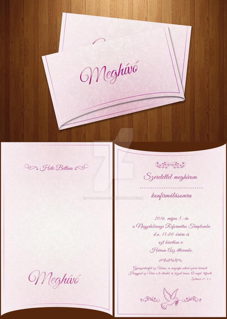 INVITATION CARD DESIGN by T-O-R-N-A-D-O