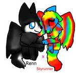 Skyrunner x Renn by frogsdolphins