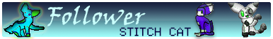 Follower Stitch Cat Button by frogsdolphins