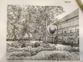 Random landscape sketch 2 by SXerosere