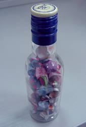 Origami Stars in Bottle