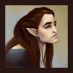 Elgann portrait by mad-smile