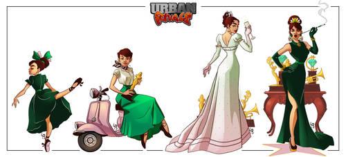 [Urban Rivals] Sabrina by mad-smile
