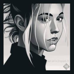 Alexis Ren portrait by mad-smile