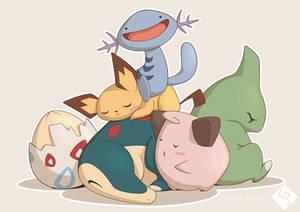 My generation #2 Team - Pokemon fanart