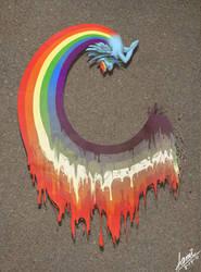 Liquid Rainbow Dash by Colorstripes