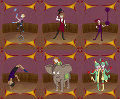 Circus Cards by TheJenjineer