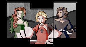 Gotham Noir - Femme Fatales details by TheJenjineer
