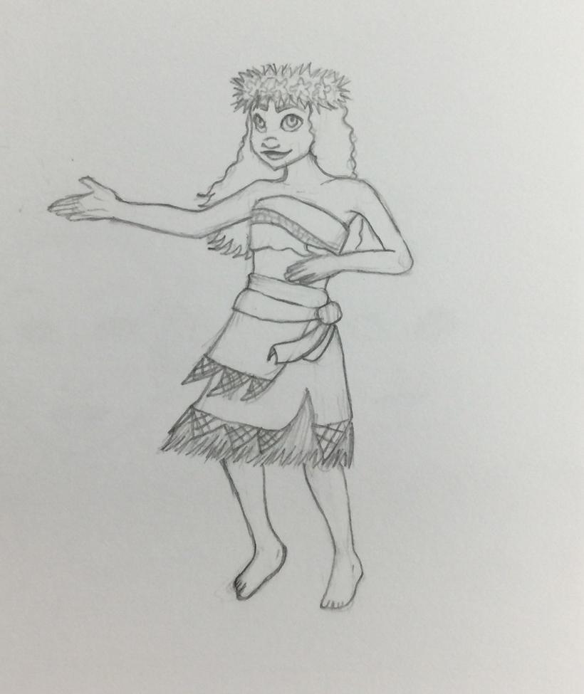 Moana Dancing by TheJenjineer