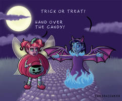 Trick or Treat or Else - Colored