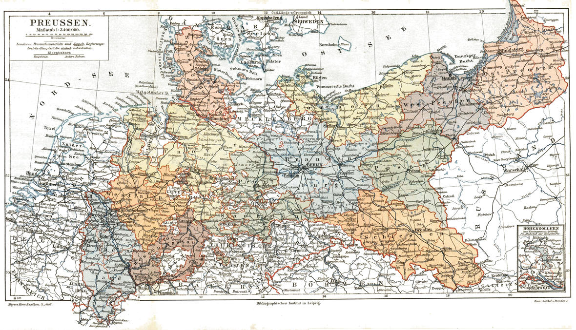 Prussia (political map before 1905) by SideLine