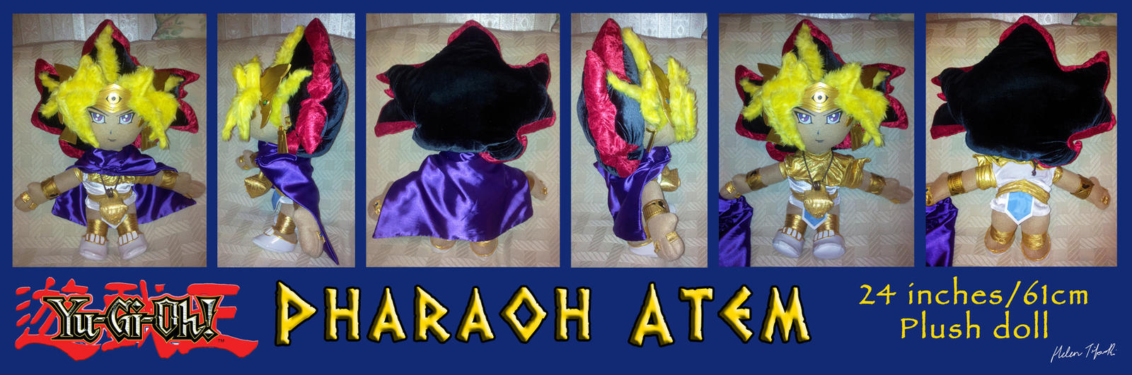 Yugioh Pharaoh Atem Plush doll (HAND-MADE) by Ubermidget