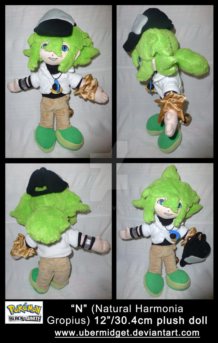 N Harmonia Gropius Pokemon Black and White plush by Ubermidget