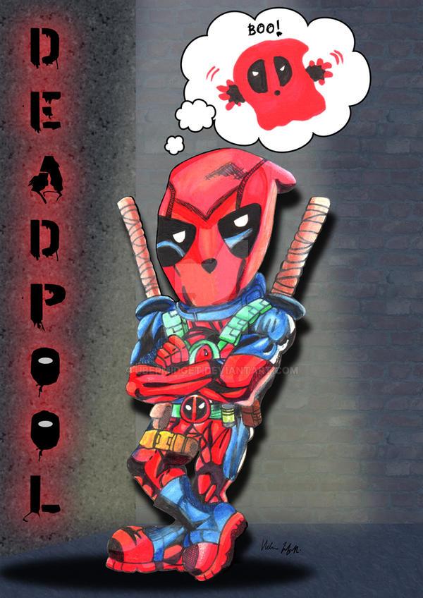 Deadpool doodle by Ubermidget