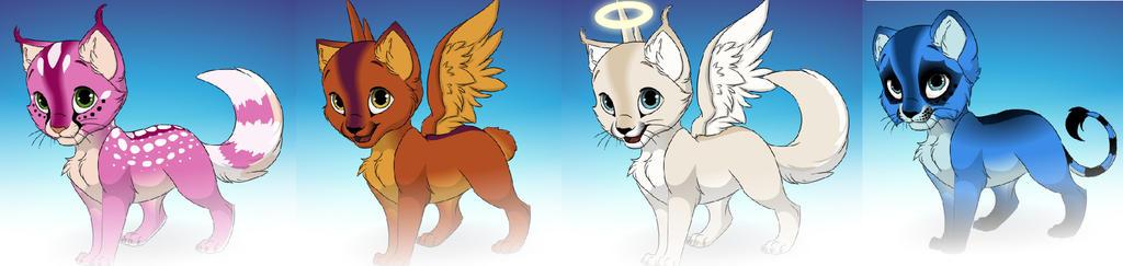 Adoptables Fantasy Cats FREE (0/4 CLOSED) by 8976lacke
