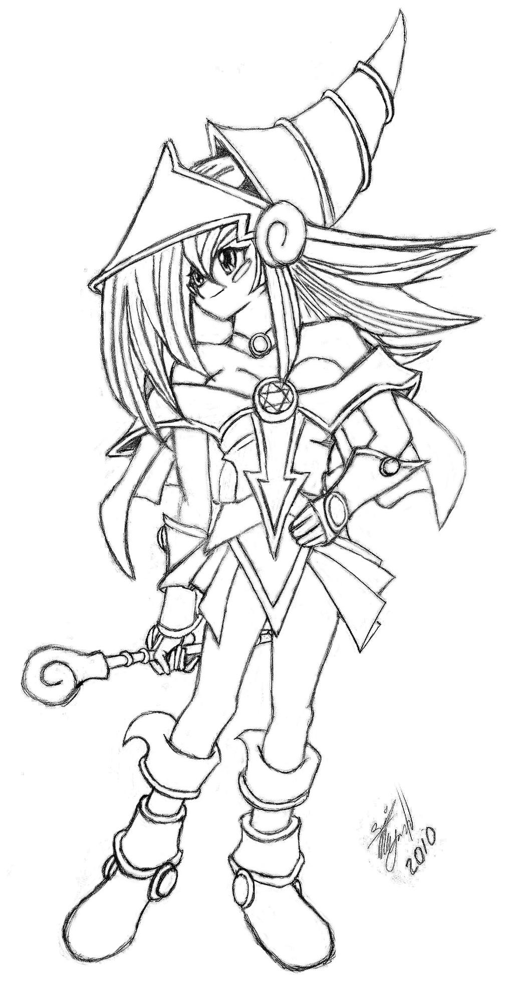 dark magician girl coloring pages - photo#18