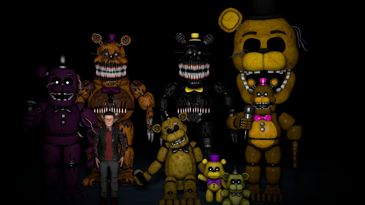 FNAF Profile 5 Golden Freddy Fredbear By Xboxking37 On