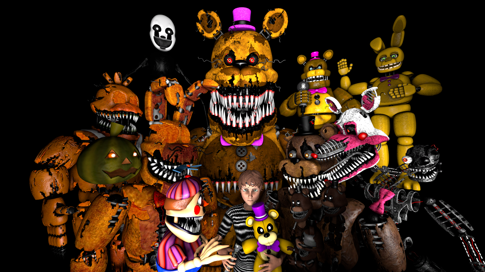 FNAF 4 Halloween by Xboxking37 on DeviantArt
