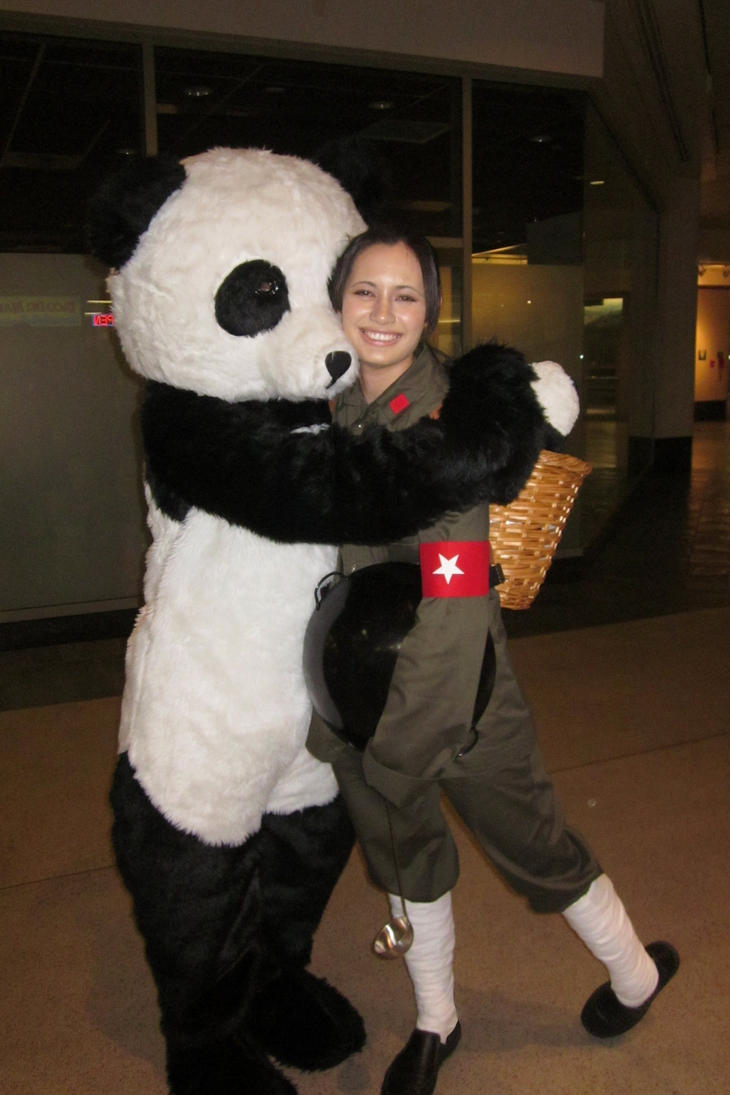 China Cosplay w/ Panda! by weowolf