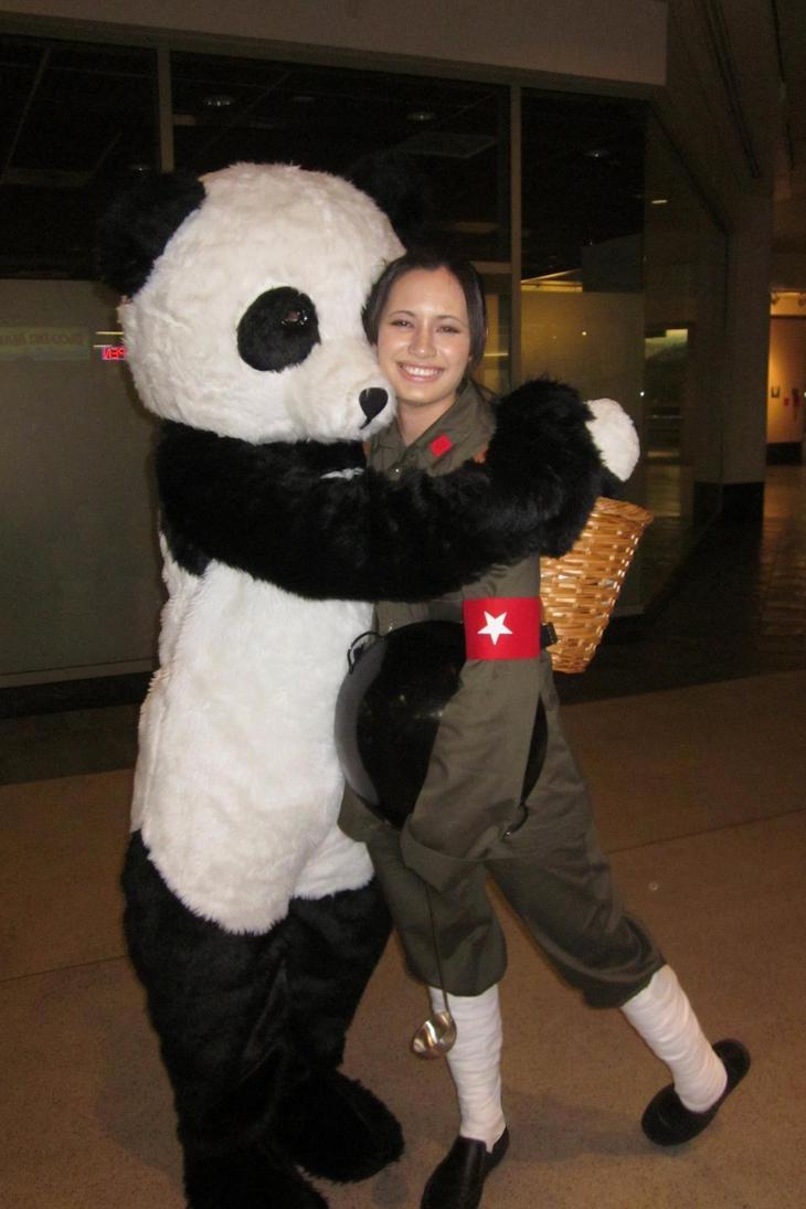 China Cosplay w/ Panda! by weowolf