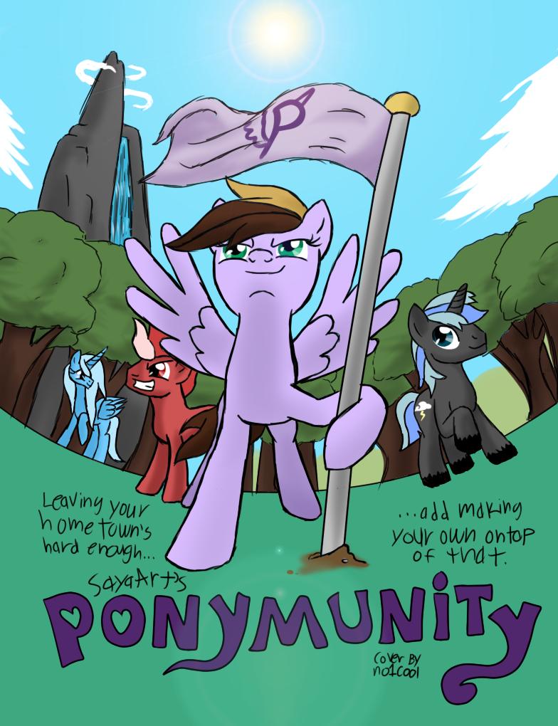 Ponymunity volume 1 cover by SkySwordHilty