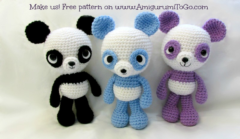 Amigurumi Panda Patroon : Panda Amigurumi Pattern Free by sojala