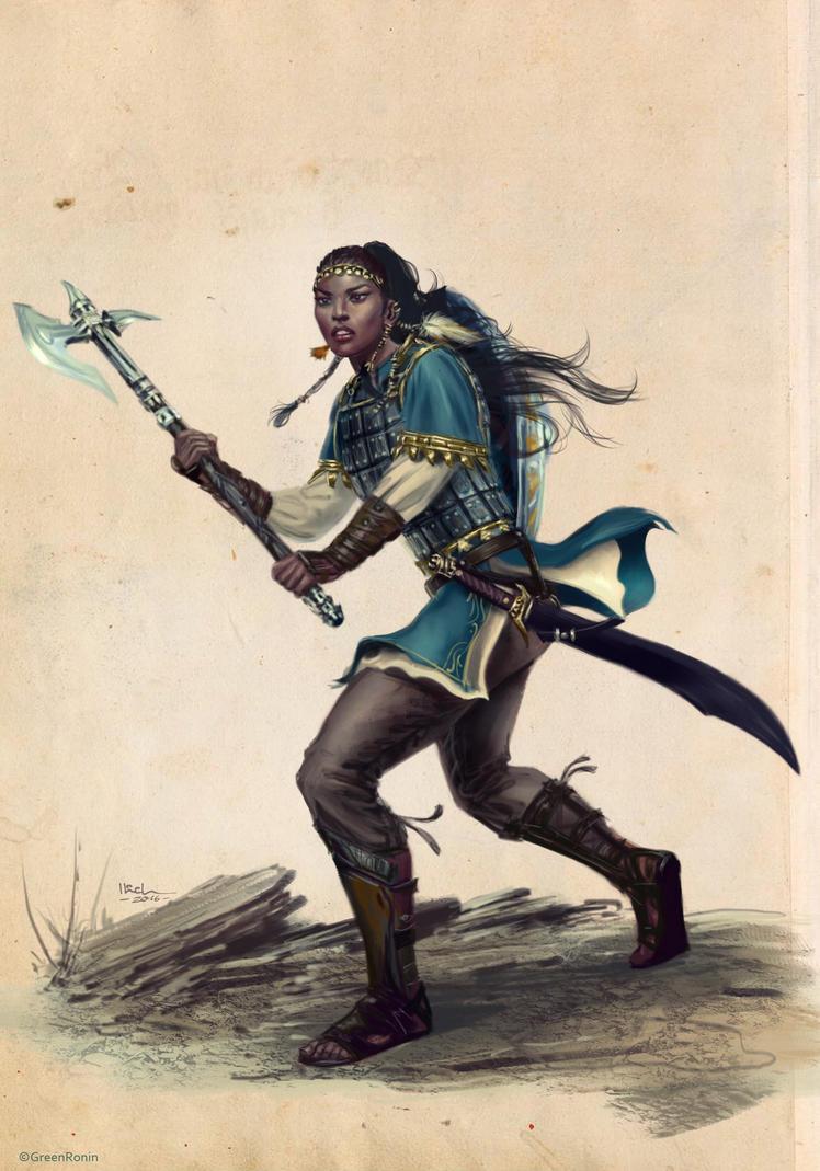Brigitte,Human Warrior Ilich Henriquez by Ilacha