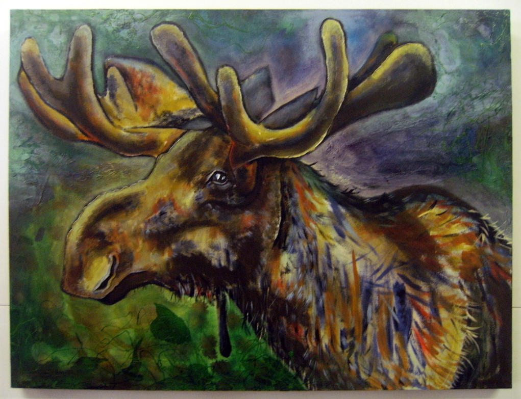 Moose by oreillyfinearts