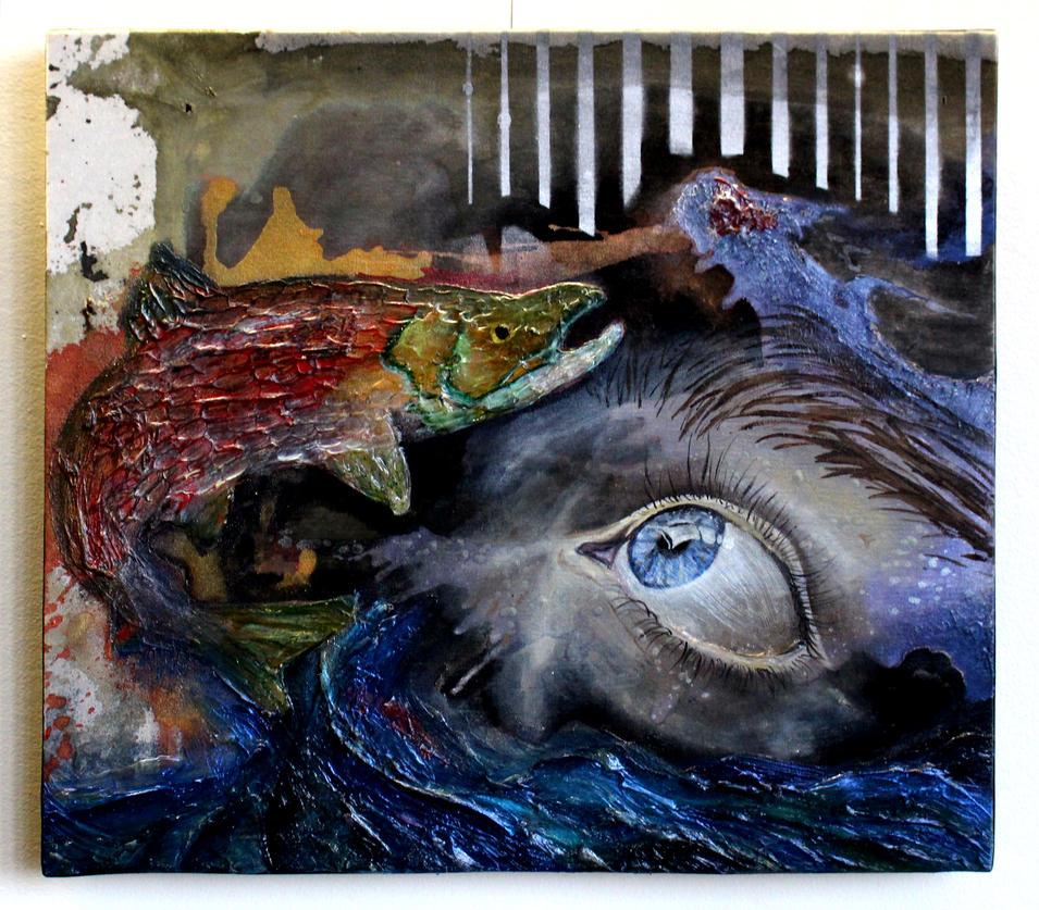 An Eye on Something Fishy by oreillyfinearts