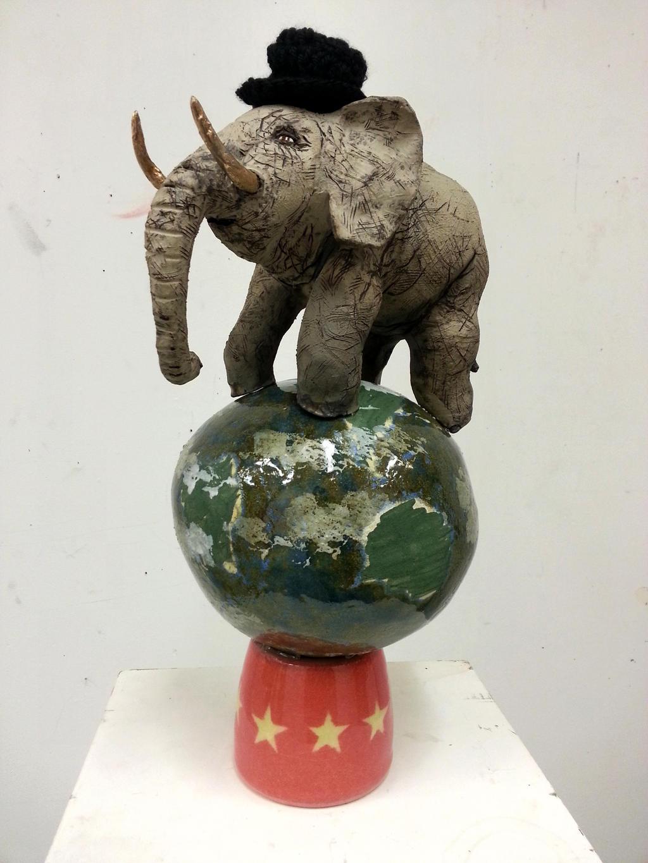 Elephant in the World (captilism)[2013] by oreillyfinearts