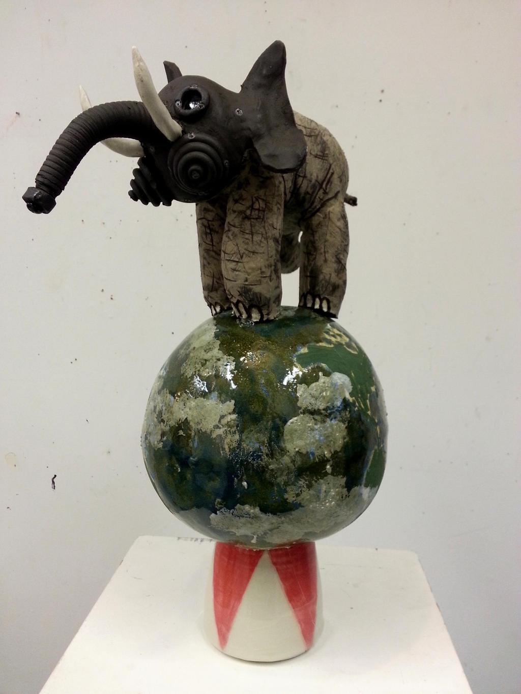 Elephants in the World (Polution)[2013] by oreillyfinearts