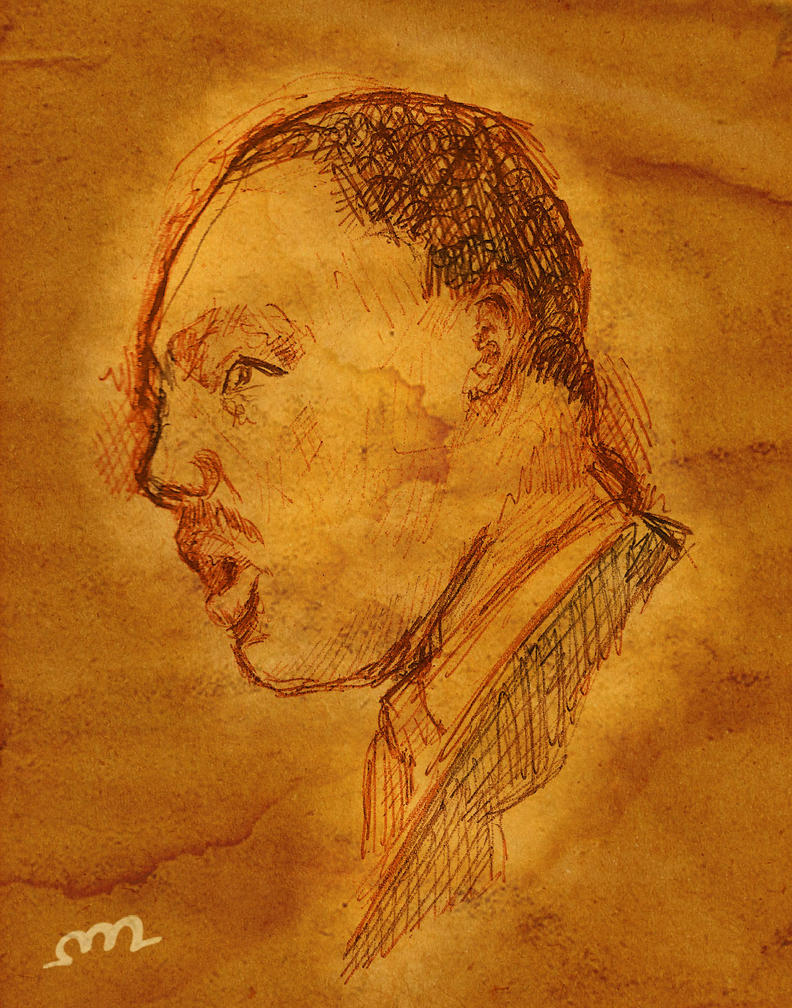 MLK Sketch by protoPrimus