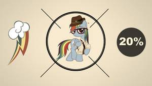 Hipster Rainbow Dash Wallpaper