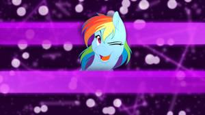 Rainbow Wink Wallpaper