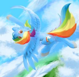 She fly