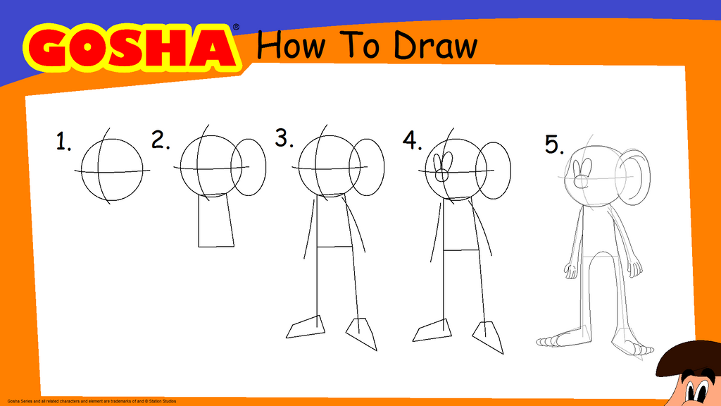 Gosha How to draw Trick and Tips by GoshaWorld