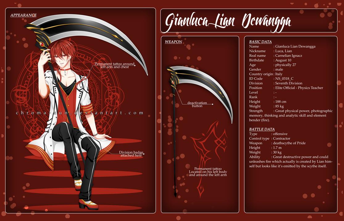 CS: Gianluca Lian Dewangga by chroma-kun