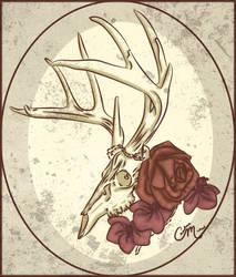 Deer Skull Foliage