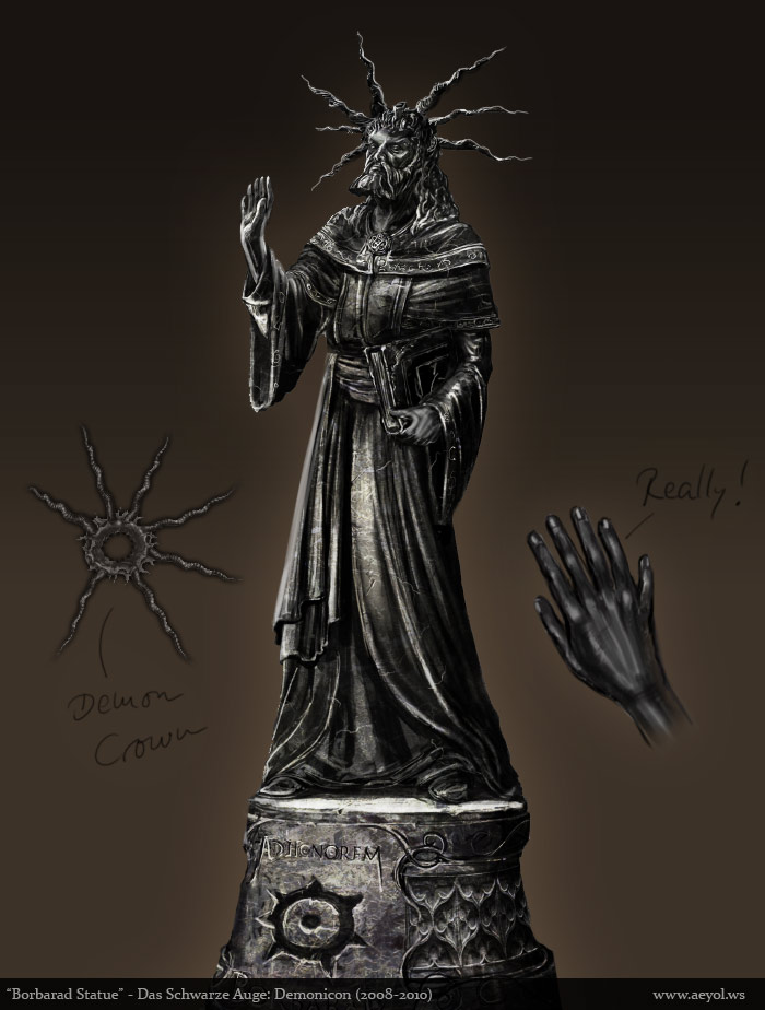 The Dark Eye: Demonicon - Borbarad Statue by Aeyolscaer
