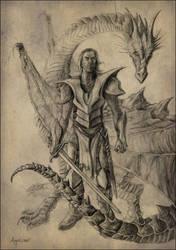 Dragon Knight by Aeyolscaer