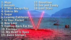 Maroon 5 V Tracklisting by Dollarluigi